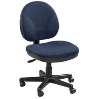 Eurotech OSS400-H14 OSS Series Blue Fabric Mid Back Swivel Office Chair