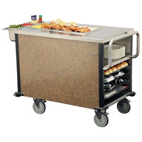Lakeside 6754 SuzyQ Sepia Mineral Dining Room Meal Serving System with One Heated Well - 120V