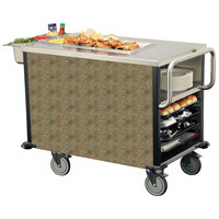 Lakeside 6754 SuzyQ Indian Slate Dining Room Meal Serving System with One Heated Well - 120V