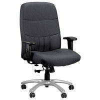 Eurotech BM9000-5801 Excelsior 350 Series Dove Charcoal Fabric High Back Swivel Office Chair