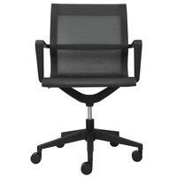 Eurotech MT301A Kinetic Series Black Mid Back Swivel Office Chair