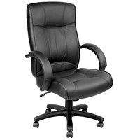 Eurotech LE9406 Odyssey Series Black Leather High Back Swivel Office Chair