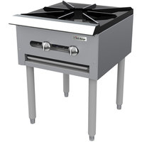 Garland SP-1844-2 Natural Gas Double Countertop Stock Pot Stove with 6 inch Legs - 90,000 BTU