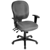 Eurotech FM4087-H5511 Racer Series Charcoal Mid Back Swivel Office Chair