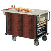 Lakeside 6754 SuzyQ Red Maple Dining Room Meal Serving System with One Heated Well - 120V