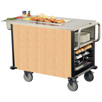 Lakeside 6754 SuzyQ Hard Rock Maple Dining Room Meal Serving System with One Heated Well - 120V