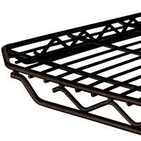 Metro 1848Q-DCH qwikSLOT Copper Hammertone Wire Shelf - 18 inch x 48 inch