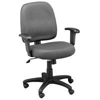 Eurotech MT5241-F242 Newport Series Grey Mid Back Mesh Swivel Office Chair