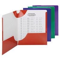 Smead 87800 Letter Size 2-Pocket Paper Pocket Folder, Assorted Color - 8/Pack