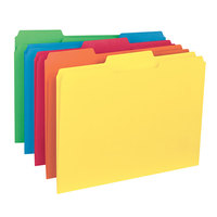 Smead 10229 Letter Size File Folder - Interior Height with 1/3 Cut Assorted Tab, Assorted Color - 100/Box