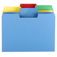 Smead 10480 SuperTab Letter Size File Folder - Standard Height with Erasable 1/3 Cut Assorted Tab, Assorted Color - 24/Set