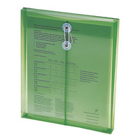 Smead 89543 Letter Size Top Load Poly Envelope - 1 1/4 inch Expansion with String Tie Closure, Green - 5/Pack