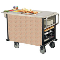 Lakeside 6754 SuzyQ Cotta Stone Dining Room Meal Serving System with One Heated Well - 120V