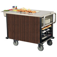 Lakeside 6754 SuzyQ Walnut Dining Room Meal Serving System with One Heated Well - 120V