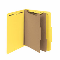 Smead 14064 100% Recycled Heavyweight Letter Size Classification Folder - 10/Box