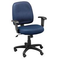 Eurotech MT5241-F249 Newport Series Navy Mid Back Mesh Swivel Office Chair