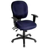 Eurotech FM4087-AT30 Racer Series Navy Mid Back Swivel Office Chair