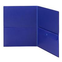Smead 87701 Letter Size 2-Pocket Poly Pocket Folder, Blue - 5/Pack