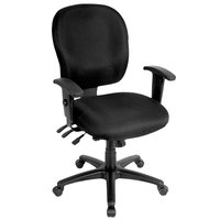 Eurotech FM4087-AT33 Racer Series Black Mid Back Swivel Office Chair