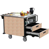 Lakeside 6755 SuzyQ Cotta Stone Dining Room Meal Serving System with Two Heated Wells - 208V