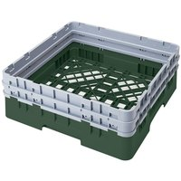 Cambro BR578119 Sherwood Green Camrack Customizable Full Size Open Base Rack with 2 Extenders