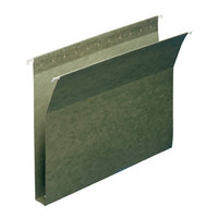 Smead 64239 8 1/2 inch x 11 inch Green 1 inch Capacity Box Bottom Hanging File Folder - Letter - 25/Box