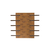 Smead 68215 2 3/4 inch Brown Reinforced Self-Adhesive Fastener with 2 inch Capacity - 100/Box