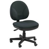 Eurotech OSS400-H06 OSS Series Ebony Fabric Mid Back Swivel Office Chair