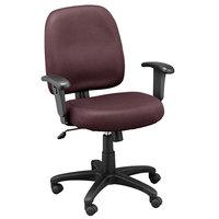 Eurotech MT5241-F243 Newport Series Burgundy Mid Back Mesh Swivel Office Chair