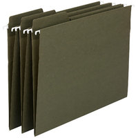 Smead 64138 8 1/2 inch x 14 inch Green 1/3 Cut FasTab Recycled Hanging File Folder - Legal - 20/Box