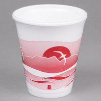 Dart 8LX8H 8 oz. Horizon Foam Cup - 1000/Case