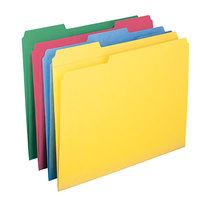 Smead 11641 Letter Size File Folder - Standard Height with Reinforced 1/3 Cut Assorted Tab, Assorted Colors - 12/Pack