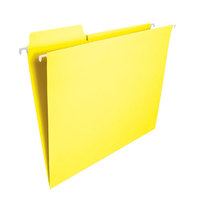 Smead 64097 8 1/2 inch x 11 inch Yellow 1/3 Tab FasTab Hanging File Folder - Letter - 20/Box