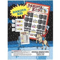 Dakota Kid 3 Window Pull Tab Tickets - 2,628 Tickets Per Deal - Total Payout: $2,276