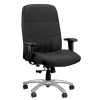 Eurotech BM9000-5806 Excelsior 350 Series Dove Black Fabric High Back Swivel Office Chair