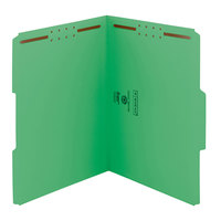 Smead 12142 WaterShed/CutLess Letter Size Fastener Folder with 2 Fasteners - 50/Box