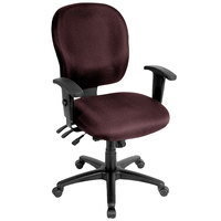Eurotech FM4087-AT31 Racer Series Burgundy Mid Back Swivel Office Chair