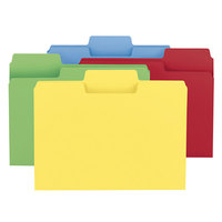 Smead 11987 SuperTab Letter Size File Folder - Standard Height with 1/3 Cut Assorted Tab, Assorted Colors - 100/Box