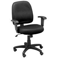 Eurotech MT5241-F241 Newport Series Black Mid Back Mesh Swivel Office Chair