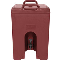 Cambro 1000LCD402 Camtainer 11.75 Gallon Red Brown Insulated Beverage Dispenser