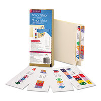 Smead 66006 7 1/2 inch x 1 1/2 inch SmartStrip Inkjet Kit End Tab Label Form - 250/Pack