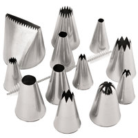 Ateco 786 12-Piece Stainless Steel Large Piping Tip Decorating Set