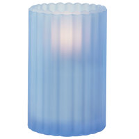 Sterno Products 80212 3 1/8 inch x 5 inch Blue Frost Paragon Candle Liquid Candle Holder