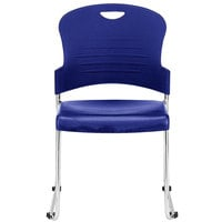 Eurotech S5000 Aire Series Navy Plastic Chair - 4/Pack
