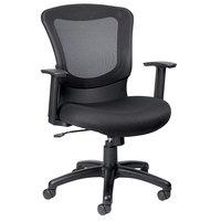 Eurotech MT7500 Marlin Series Black Mid Back Swivel Office Chair