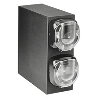 Vollrath J3V-LLL LidSaver™ 2 Mini Black Countertop Vertical 3 Slot Dispenser Cabinet for Portion Cups and Lids