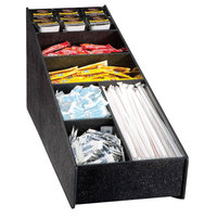 Vollrath LDS-3 Traex® Black Countertop Condiment / Straw Holder and Organizer