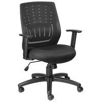 Eurotech MT8500 Stingray Series Black Mid Back Swivel Office Chair