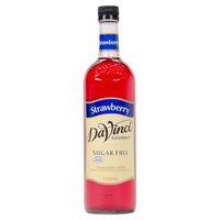 DaVinci Gourmet 750 mL Strawberry Sugar Free Coffee Flavoring / Fruit Syrup