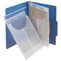 Smead 68191 Letter or Legal Size Poly File Retention Jacket, 3/4 inch Expansion, Clear - 24/Box